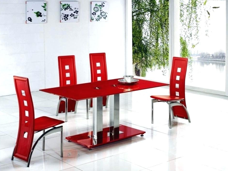 Bate Red Retro 3 Piece Dining Sets For Popular Red Dining Set Red Dining Room Sets Black And Red Dining Set Unique (Gallery 10 of 20)
