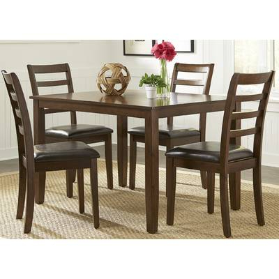 Baxton Studio Keitaro 5 Piece Dining Sets Throughout Well Known Wholesale Interiors Baxton Studio Keitaro 5 Piece Dining Set (View 6 of 20)