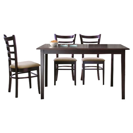 Baxton Studio Keitaro 5 Piece Dining Sets With Latest Baxton Studio Keitaro 5 Piece Dining Set & Reviews (View 7 of 20)