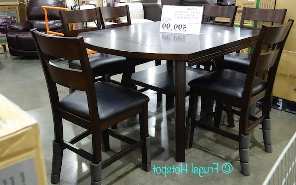 Bayside 7 Piece Dining Set Costco Review At Home Dining Sets In Favorite Noyes 5 Piece Dining Sets (View 12 of 20)