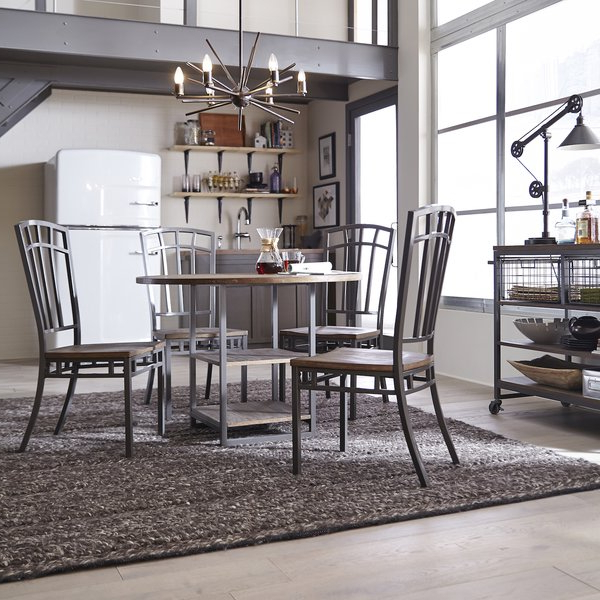 Beetham 5 Piece Counter Height Dining Table Setbloomsbury Market Inside Well Known Isolde 3 Piece Dining Sets (View 3 of 20)