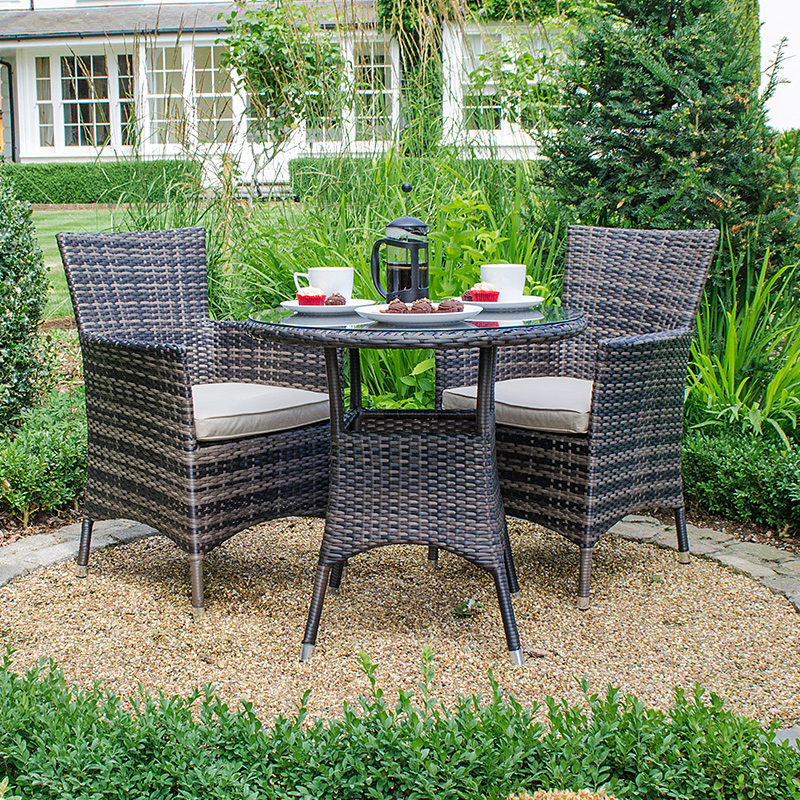 Best And Newest Amelia 2 Seat Bistro Set – Brown At Homebase.co (View 2 of 20)
