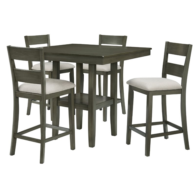 Best And Newest Gwyneth 5 Piece Counter Height Dining Set & Reviews (View 1 of 20)