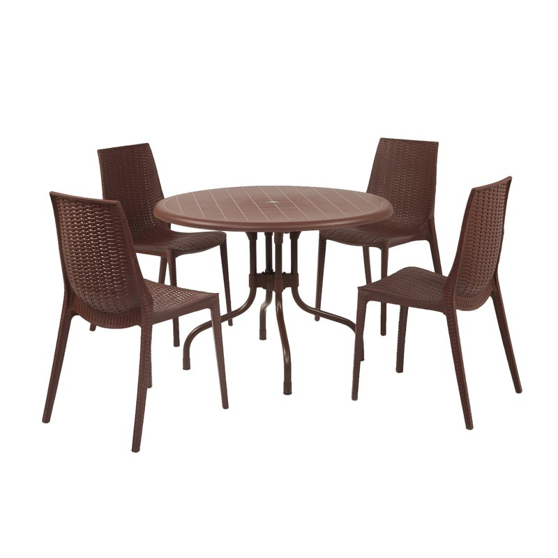 Bloomsbury Market Miskell Commercial Grade 5 Piece Dining Set (View 5 of 20)