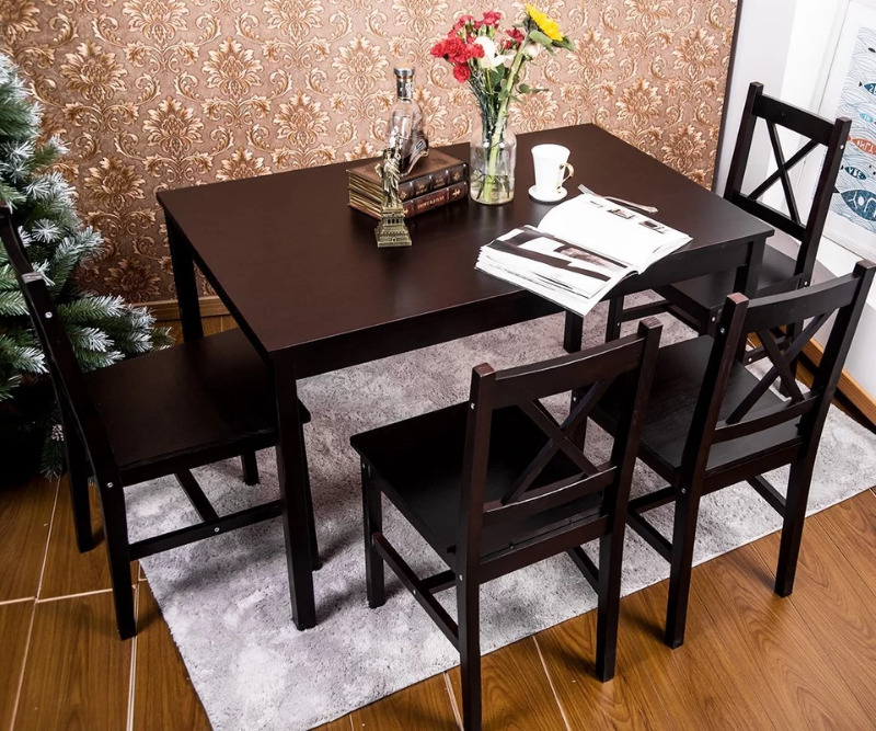Brand New In Box* Table Only Dennie Solid Wood Diningwinst Throughout Well Known Winsted 4 Piece Counter Height Dining Sets (Gallery 18 of 20)