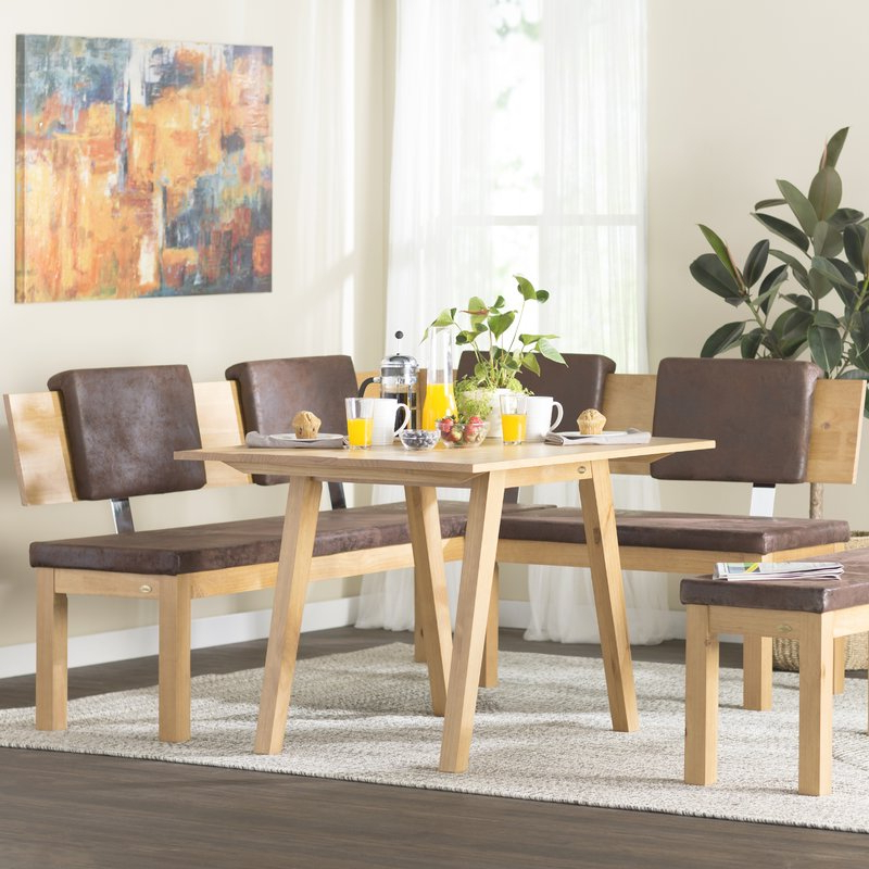 Brayden Studio Desouza 3 Piece Breakfast Nook Dining Set & Reviews With Widely Used 3 Piece Breakfast Dining Sets (View 11 of 20)
