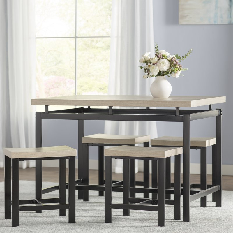 Bryson 5 Piece Dining Sets Inside Popular Wrought Studio Bryson 5 Piece Dining Set & Reviews (View 1 of 20)