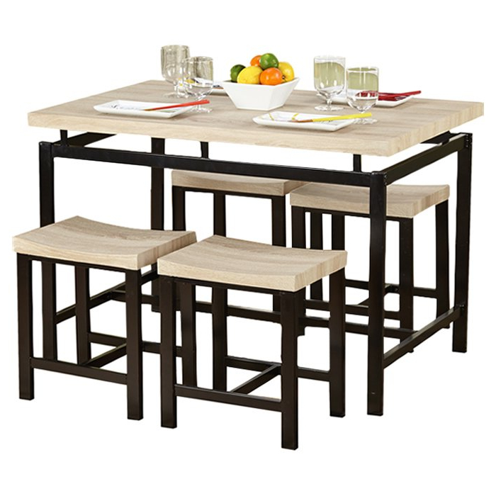 Bryson 5 Piece Dining Sets Throughout Favorite Bryson 5 Piece Dining Set & Reviews (View 2 of 20)