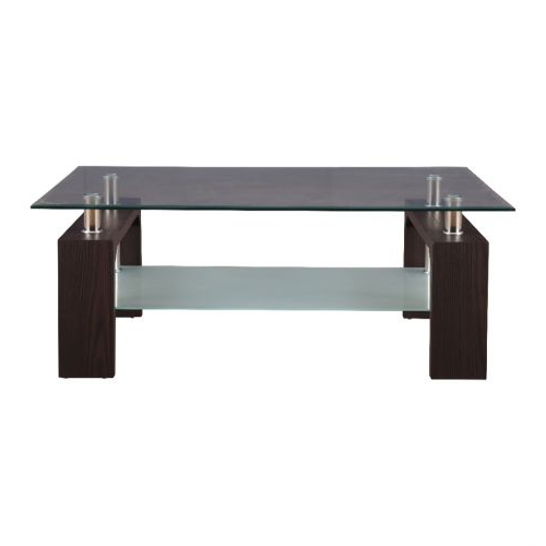 Buy Giles Glass Center Table In Walnut Colourhometown Online At For Fashionable Giles 3 Piece Dining Sets (Gallery 17 of 20)