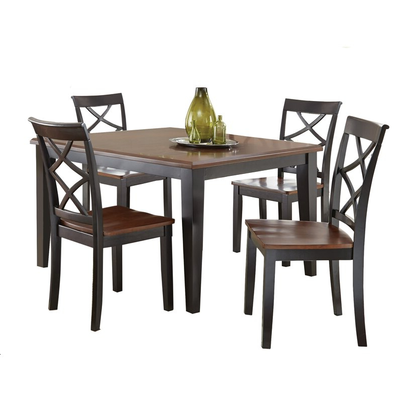 Charlton Home Ari 5 Piece Drop Leaf Dining Set & Reviews (Gallery 2 of 20)