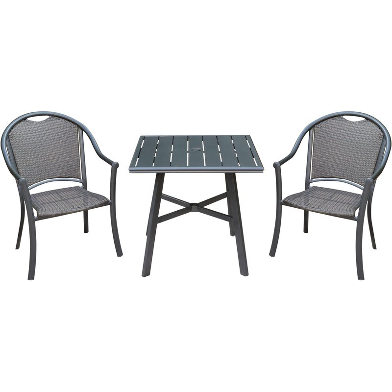 Charlton Home Bearden 3 Piece Commercial Grade Patio Set With 2 Inside Most Up To Date Bearden 3 Piece Dining Sets (Gallery 7 of 20)