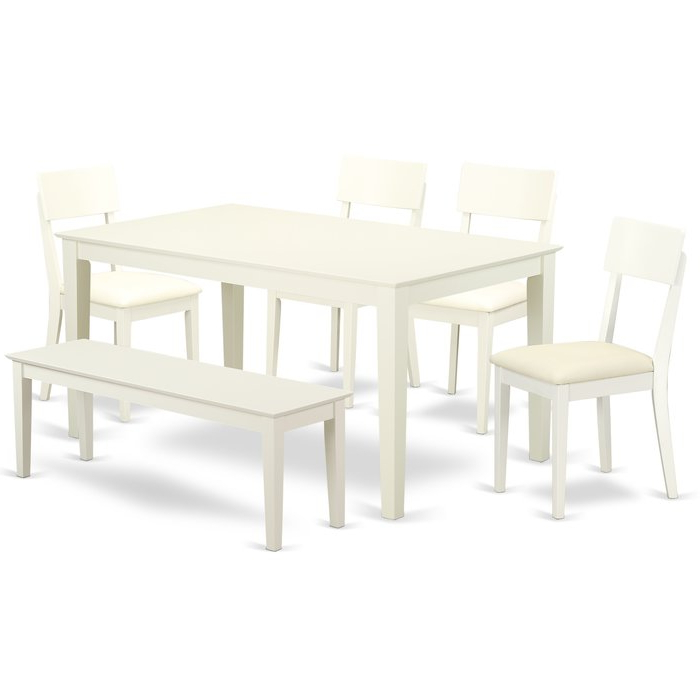 Charlton Home Smyrna 6 Piece Solid Wood Dining Set (View 4 of 20)