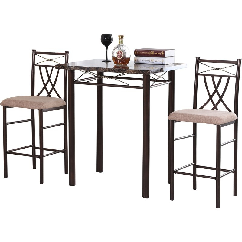Cincinnati 3 Piece Dining Sets Throughout 2019 Andover Mills Cincinnati 3 Piece Dining Set & Reviews (Gallery 3 of 20)