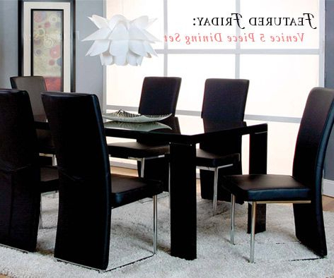 Create A Whole New Look With The Venice 5 Piece Dining Set Pertaining To Preferred Cargo 5 Piece Dining Sets (View 6 of 20)