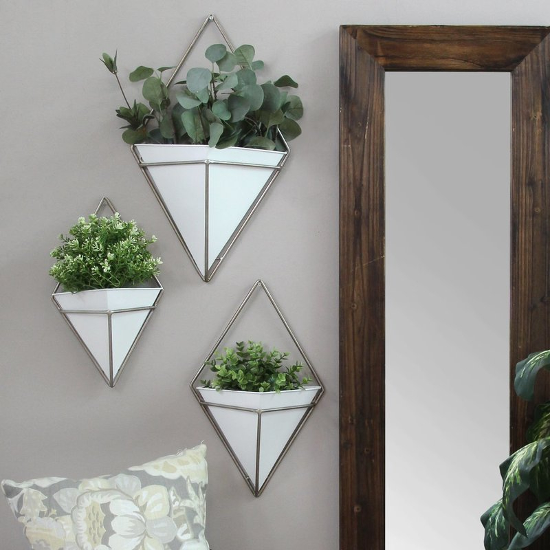 Current Cordero 3 Piece Metal Wall Planter Set & Reviews (Gallery 14 of 20)