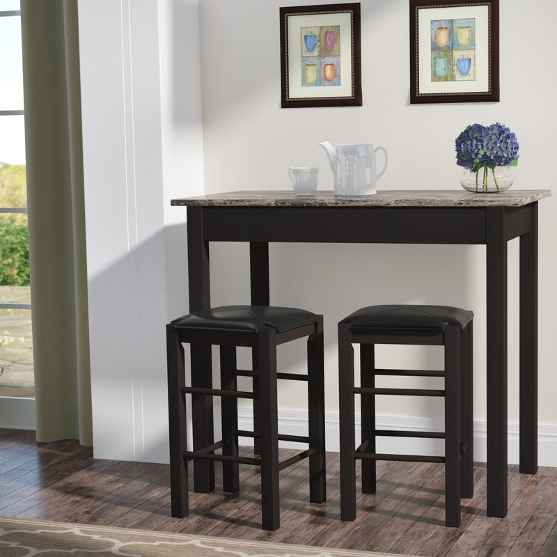 Current Winston Porter Sheetz 3 Piece Counter Height Dining Set & Reviews With Tappahannock 3 Piece Counter Height Dining Sets (Gallery 4 of 20)