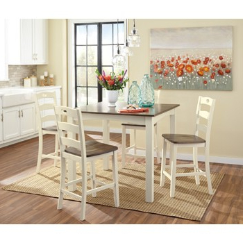 D335 223 With Famous Linette 5 Piece Dining Table Sets (View 15 of 20)