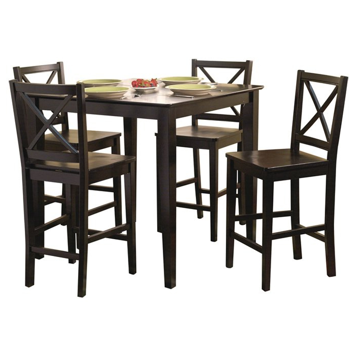 Dade 5 Piece Counter Height Dining Set & Reviews (Gallery 14 of 20)