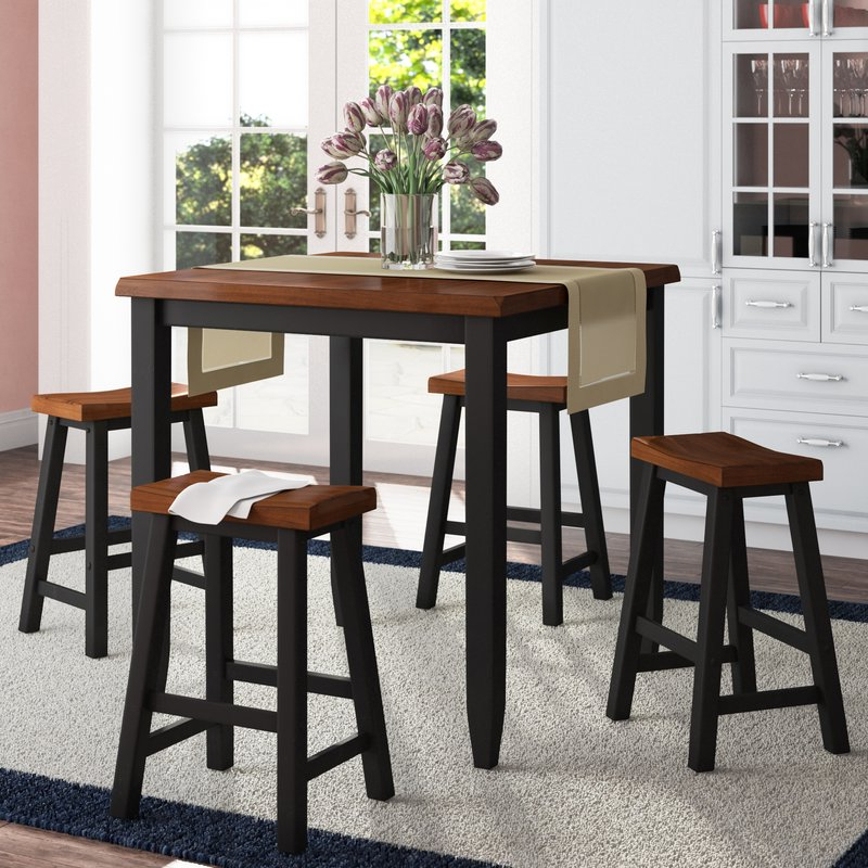 Darby Home Co Simmons Casegoods Ruggerio 5 Piece Counter Height Pub With Popular Winsted 4 Piece Counter Height Dining Sets (View 12 of 20)