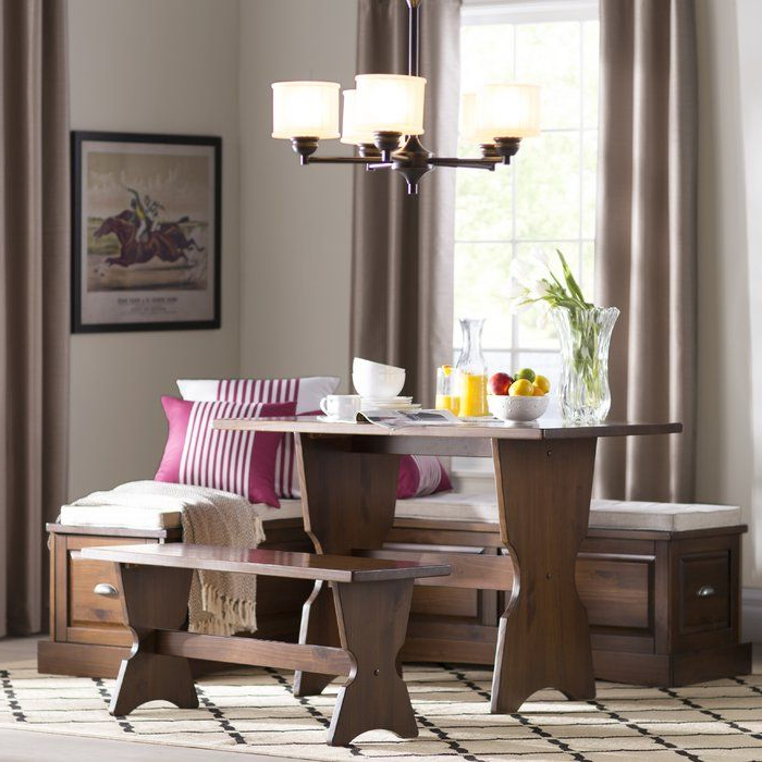 Dearborn 3 Piece Breakfast Nook Dining Set (Gallery 18 of 20)