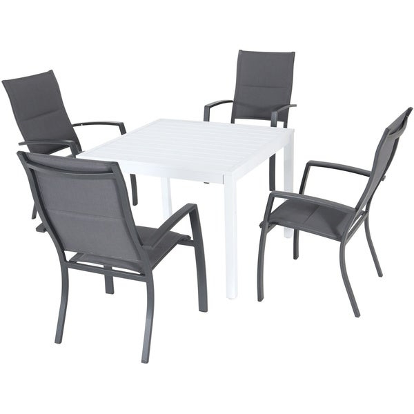 Delmar 5 Piece Dining Sets Inside Favorite Shop Hanover Del Mar 5 Piece Outdoor Dining Set With 4 Padded Sling (Gallery 8 of 20)