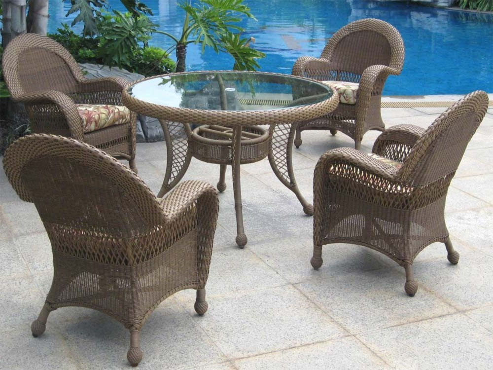 Delmar 5 Piece Dining Sets Pertaining To 2017 Longboat Key Casa Del Mar Wicker 5 Piece Dining Set – Wicker (View 13 of 20)