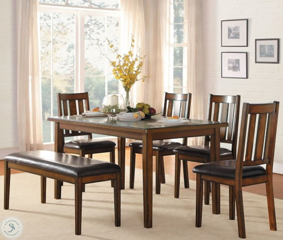 Delmar Burnished Brown 6 Piece Dining Room Set From Homelegance Throughout Well Known Delmar 5 Piece Dining Sets (View 8 of 20)