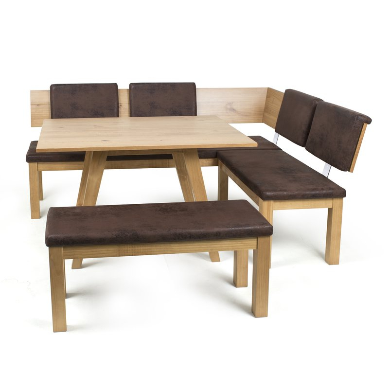 Desouza 3 Piece Breakfast Nook Dining Set & Reviews (View 5 of 20)
