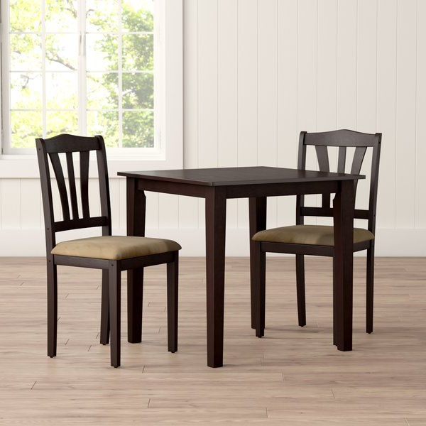 Dinah 3 Piece Dining Set (Gallery 13 of 20)