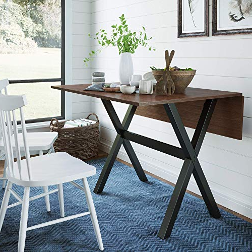 Drop Leaf Tables For Small Spaces: Amazon Intended For Current West Hill Family Table 3 Piece Dining Sets (View 14 of 20)