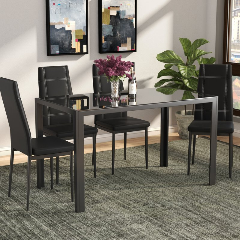 Ebern Designs Maynard 5 Piece Dining Set & Reviews (View 9 of 20)