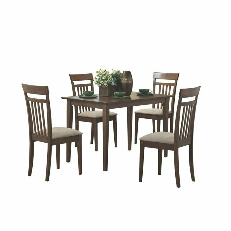 Evellen 5 Piece Solid Wood Dining Sets (Set Of 5) Pertaining To Well Known Monarch Specialties 5 Piece Wood Dining Set For Sale Online (Gallery 6 of 20)