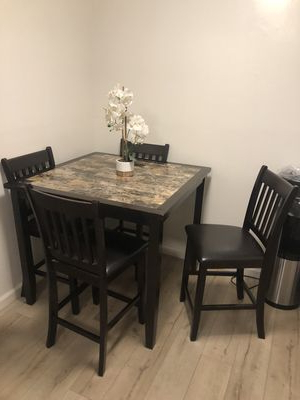 Falmer 3 Piece Solid Wood Dining Sets In Well Known Dining Table For Sale – Offerup (Gallery 11 of 20)