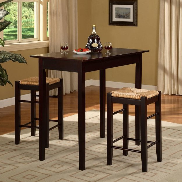 Famous August Grove Tenney 3 Piece Counter Height Dining Set & Reviews In Poynter 3 Piece Drop Leaf Dining Sets (Gallery 9 of 20)