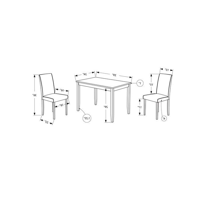 Famous Baillie 3 Piece Dining Sets Regarding Latitude Run Baillie 3 Piece Dining Set & Reviews (View 7 of 20)