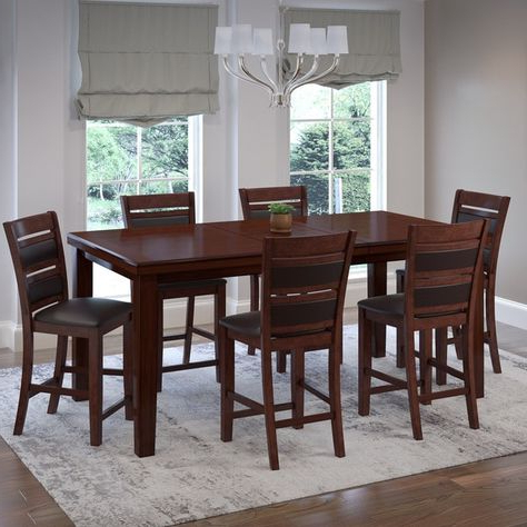 Famous Carriage Hill 7 Piece Extendable Dining Set Pertaining To Pratiksha Sonoma 5 Piece Dining Sets (View 7 of 20)