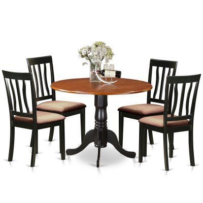Famous Sundberg 5 Piece Solid Wood Dining Sets Pertaining To East West Furniture 5 Piece Splat Back Drop Leaf Dinette Dining (View 5 of 20)