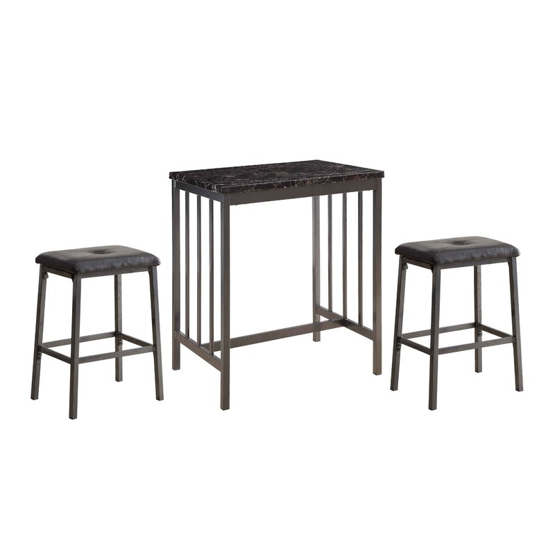 Famous Winston Porter Mizpah 3 Piece Counter Height Dining Set (View 3 of 20)