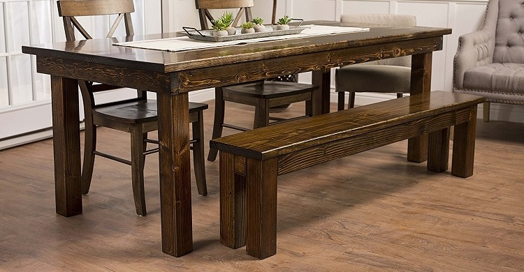 Farmhouse Dining Tables – Farmhouse Goals In Well Known Emmeline 5 Piece Breakfast Nook Dining Sets (View 8 of 20)