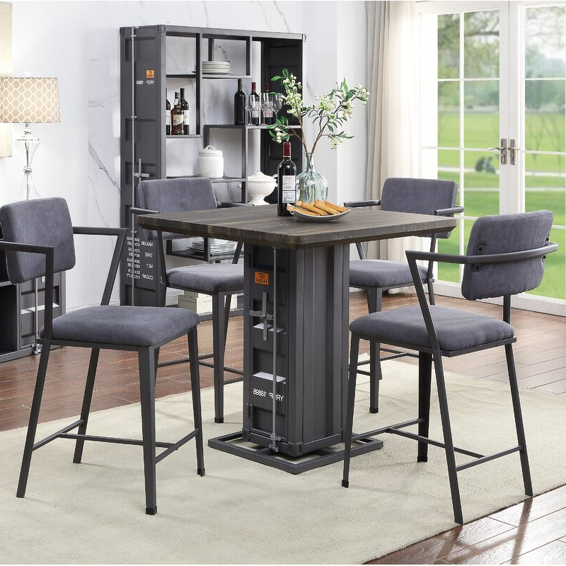 Fashionable Cargo 5 Piece Dining Sets Pertaining To Acme Cargo 5 Piece Dining Set (Gallery 1 of 20)