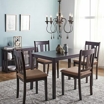 Fashionable Dining Set With Table 4 Chairs Stable Kitchen Furniture Diy 5 Pieces With Tarleton 5 Piece Dining Sets (Gallery 8 of 20)