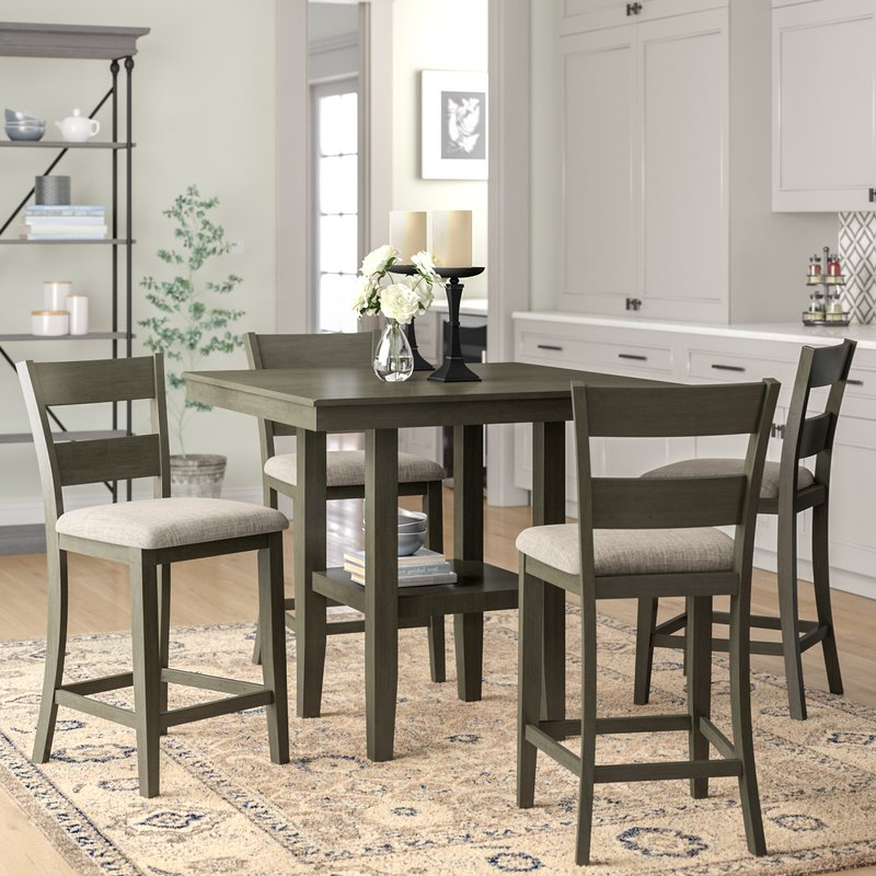 Fashionable Gwyneth 5 Piece Counter Height Dining Set & Reviews (View 6 of 20)