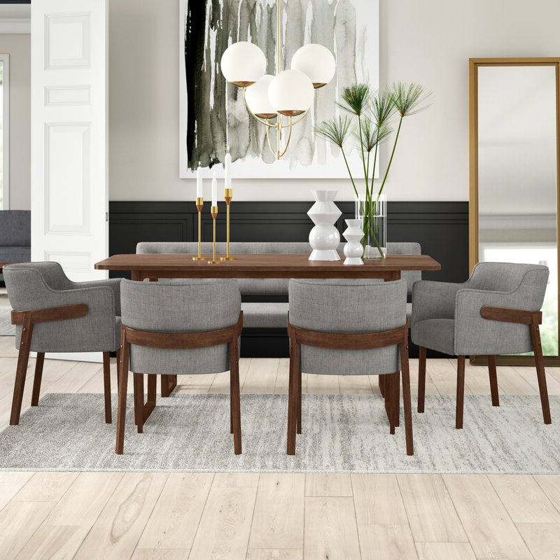 Fashionable Mukai 5 Piece Dining Sets Intended For Mercury Row Mukai 6 Piece Dining Set & Reviews (View 3 of 20)