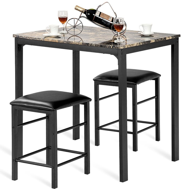 Fashionable Winston Porter Mitzel 3 Piece Dining Set & Reviews (Gallery 1 of 20)