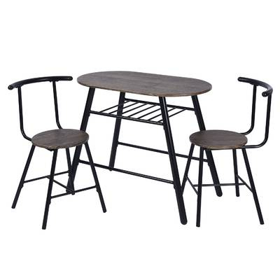 Fashionable Zipcode Design Smyrna 3 Piece Dining Set & Reviews (Gallery 1 of 20)