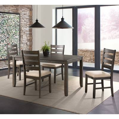 Favorite Adan 5 Piece Solid Wood Dining Sets (set Of 5) Regarding Ttpfurnish Aden 5 Piece Solid Wood Dining Set (View 10 of 20)