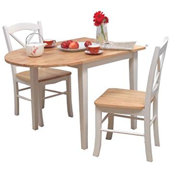 Favorite Amazon – Coaster Home Furnishings 3 Piece Dining Set With Drop In Rossiter 3 Piece Dining Sets (View 6 of 20)
