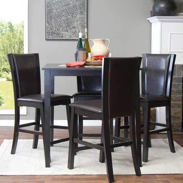 Favorite Calla 5 Piece Dining Sets Regarding Latitude Run Calla 5 Piece Counter Height Dining Set & Reviews (View 9 of 20)