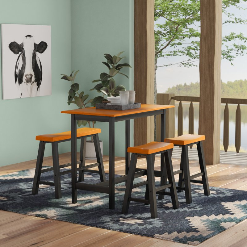 Favorite Kerley 4 Piece Dining Sets Regarding Loon Peak Kerley 4 Piece Dining Set & Reviews (Gallery 1 of 20)