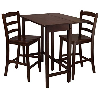 Favorite Winsome 3 Piece Counter Height Dining Sets For Amazon – Winsome Lynnwood Drop Leaf High Table With 2 Counter (Gallery 9 of 20)